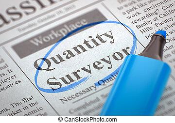 Quantity Surveyor Wanted. 3D.