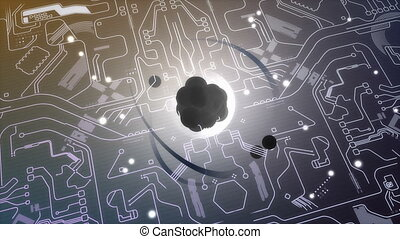 """""""Computer generated, Quantum computer technology, concept animation."""""""