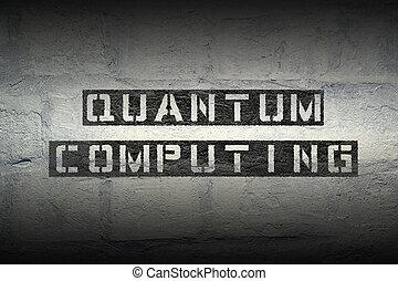 quantum computing gr - quantum computing stencil print on...