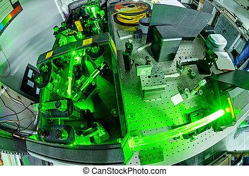 quantum, ottica, laser, lab.