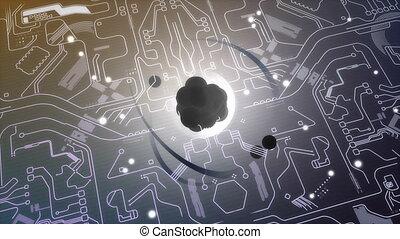 """quantum, technologie, animation."", informatique, concept"