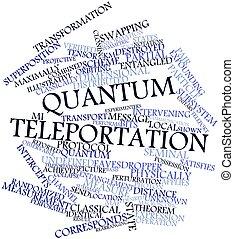 Quantum teleportation - Abstract word cloud for Quantum...