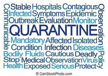 quarantaine, woord, wolk