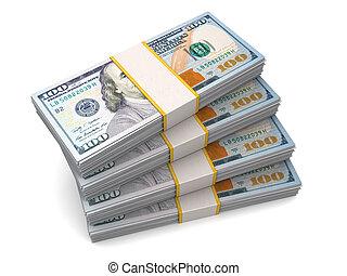 quarante, mille, dollars, dans, cent dollar, factures