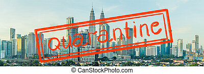 Quarantine due to coronavirus epidemic covid19 Panorama of Kuala Lumpur in the morning