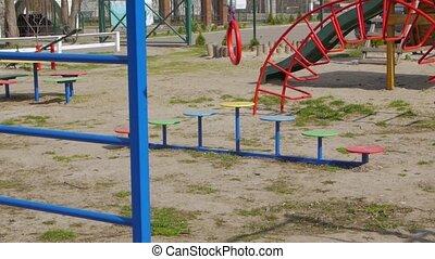 Quarantine empty playground camera movement