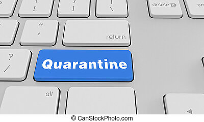 Quarantine  keyboard stock photo
