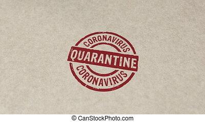 Quarantine stamp and stamping animation