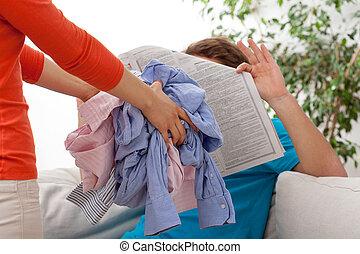 Quarrel of household duties