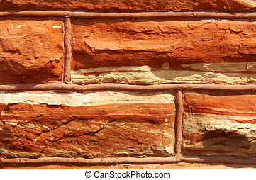 Quarried Red Sandstone - Locally quarried, red sandstone...