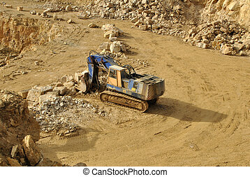 Quarry - Diggers in the quarry
