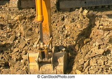 quarry., excavateur