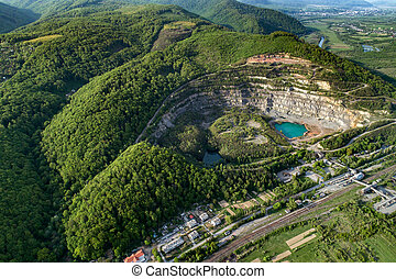 Quarry for the extraction of stone and sand.