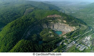 Quarry for the extraction of stone or rock from the air....