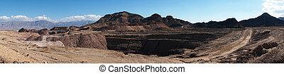 Quarry in Timna park in Negev desert, Israel...