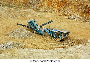 Quarry - Machine in quarry- open-pit mine