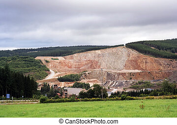 Quarry - Open quarry in mountain in the Belgian Ardennes