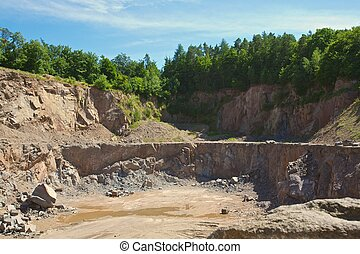 quarry - stone pit in the forest