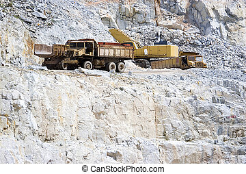 Quarry Works - Image of rock quarry works in Malaysia.