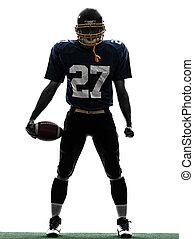 quarterback american football player man silhouette - one...