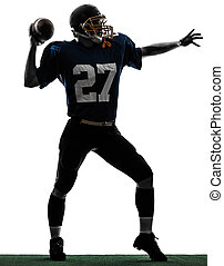 quarterback american throwing football player man silhouette