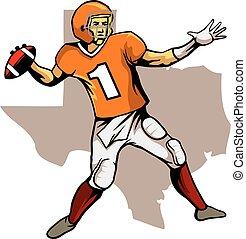 quarterback, texas, squadra