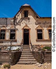 quartermaster's, casa, en, kolmanskop, pueblo fantasma