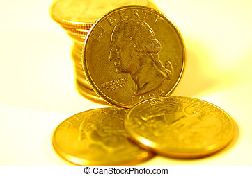 Quarters in Gold Tone 2 - Quarters With Gold Tone