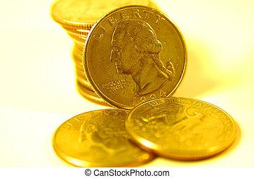 Quarters in Gold Tone 2