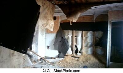 quarters room with partial collapse - once upon a time...
