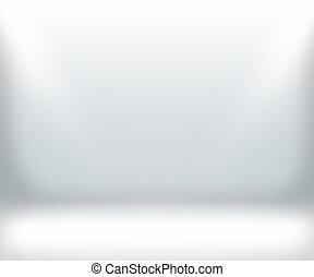 quarto branco, fundo, mostrar