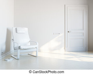 quarto branco, relaxamento