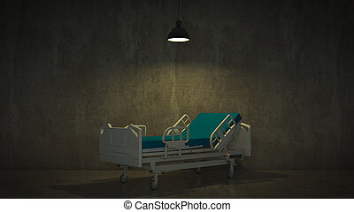 quarto hospital, cama