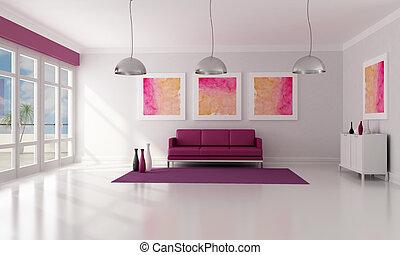 quarto moderno, vivendo