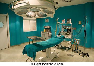 quarto operacional, em, um, hospitalar