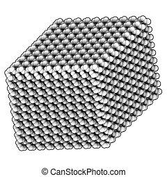 Quartz (a-quartz, SiO2) crystal structure