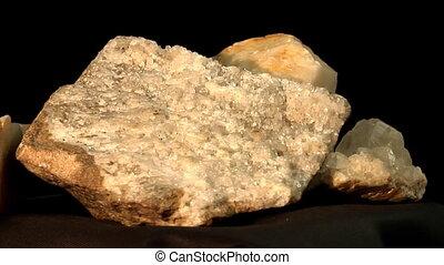 quartz and tiff crystals and basalt with quartz - loopable...