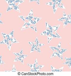 quartz, coloré, rose, pattern., seamless, couleurs, vecteur, sérénité, étoiles