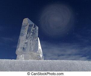 quartz crystal for design web page, background etc..