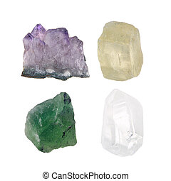 Quartz crystal variants
