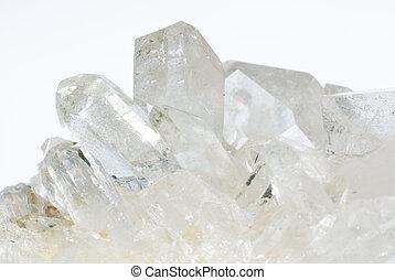 Group of quartz crystals