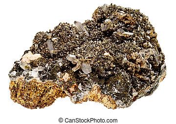 Quartz crystals on host rock