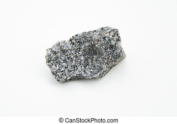 quartz diorite stone isolated over white