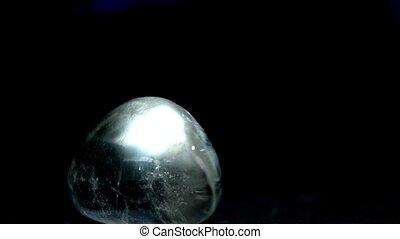 Quartz, pebble of the river rhine