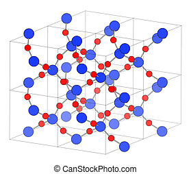 Quartz (rock crystal) mineral, crystal structure. Onyx,...