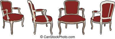 quatre, chaises, style