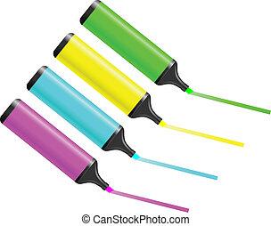 quatre, couleur crayon