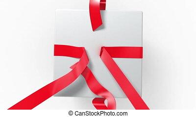 quatre, déballage, gift., animations