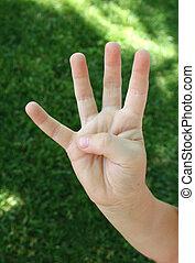 quatre, doigts