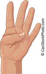 quatre, ensemble, fournée, doigts